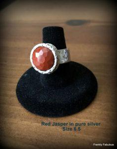 faceted jasper ring