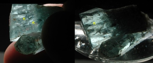 faceting rough aquamarine
