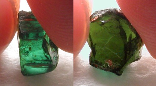 facet rough tourmaline