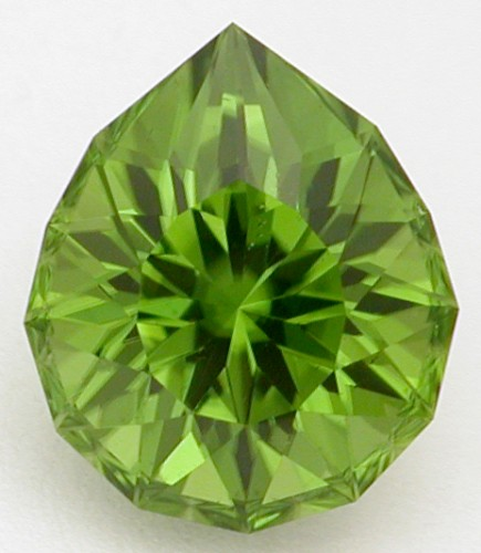 faceted peridot gem
