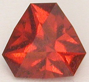 faceted spessartite garnet