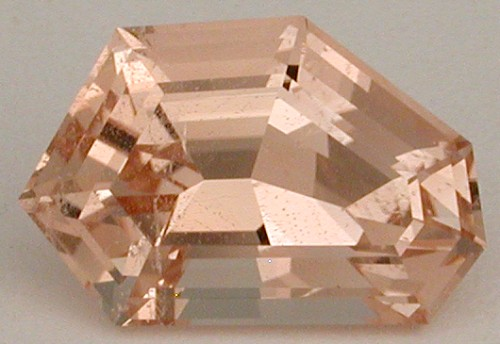 faceted pink topaz