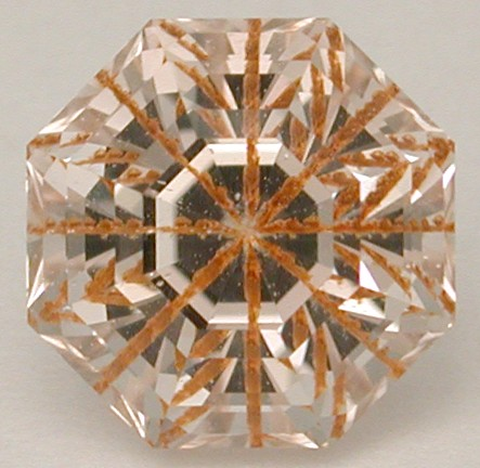 faceted rutile topaz needle