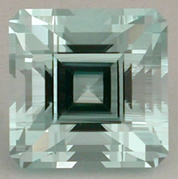 aquamarine faceted gemstone