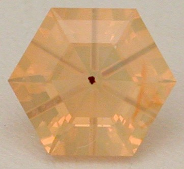 faceted fire opal
