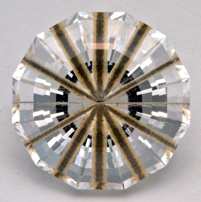 faceted rutilated quartz needle