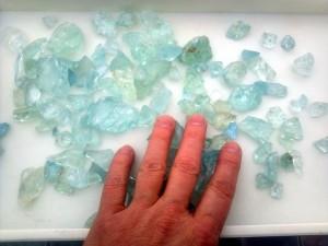 aquamarine faceting rough
