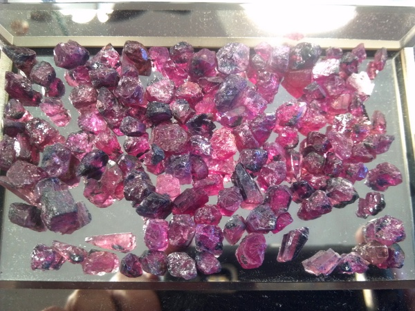 tucson 2014 ruby faceting rough