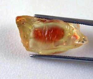 facet rough oregon sunstone