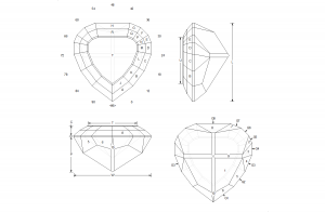 Sacred Heart Faceting Design