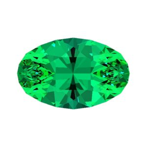 canoe oval faceting design
