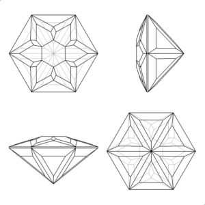 snowflake faceting design