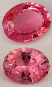 spinel chppped gemstone repair